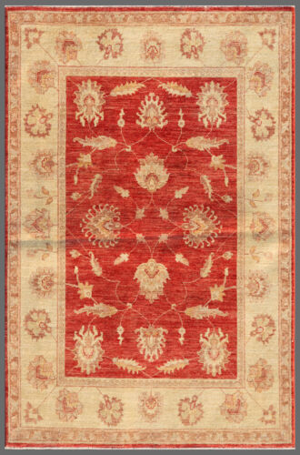 Red 4' x 6' Peshawar Rug Hand Knotted Oriental Rug