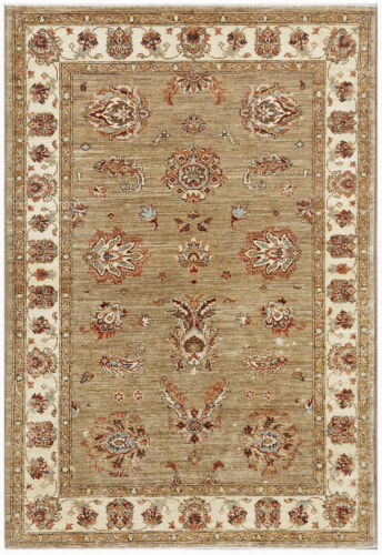 Gray 4' x 6' Peshawar Rug Hand Knotted Oriental Rug