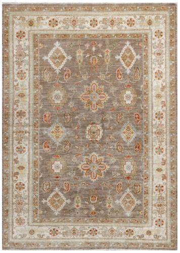 Gray 5' x 7' Peshawar Rug Hand Knotted Oriental Rug
