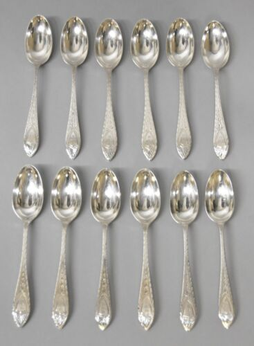 Set of 12 Teaspoons by Tiffany & Co - Faneuil Pattern Spoons