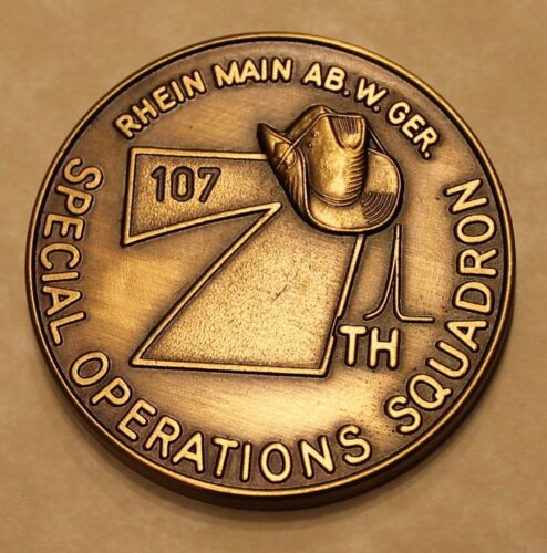 7th Special Operations Squadron Rhein Main Serial #107 Air Force Challenge CoinOriginal Period Items - 13983