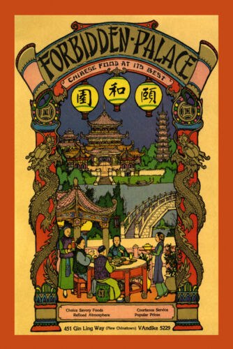 Forbidden Palace Chinese Restaurant Chinatown Food Vintage Poster Repro FREE S/H