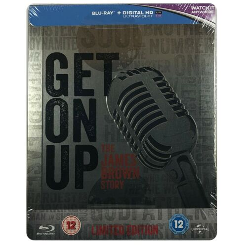 Get On Up Steelbook - UK Exclusive Limited Edition Blu-Ray **Region B**