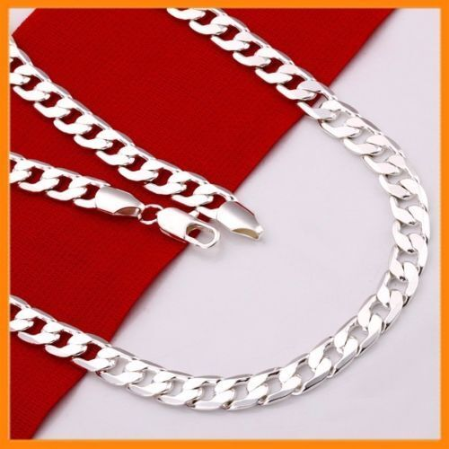 Stunning 925 Sterling Silver Filled 4MM Classic Curb Necklace Chain Wholesale <br/> AU STOCK!! Good Quality!! Next Day Dispatch!! 3600+SOLD
