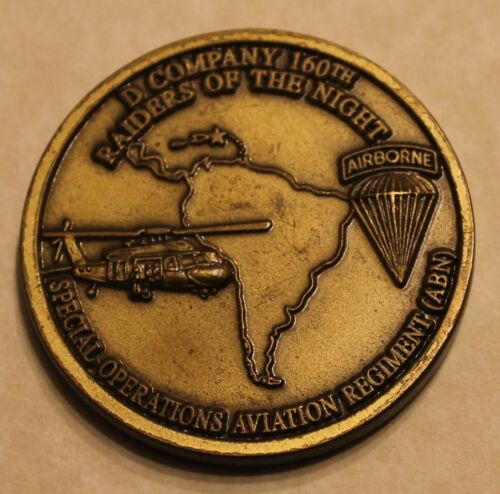 160th SOAR Night Stalkers D Company SOCSOUTH Army Challenge Coin / TF / AirborneOriginal Period Items - 156451