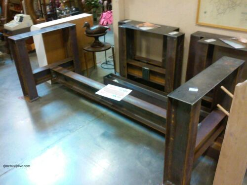 Antique Furniture I-beam Industrial Table Base Steampunk Machinery Re-purpose