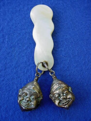 Palmer Cox Brownies Sterling Silver Baby Rattle Unger Brothers Really Rare!