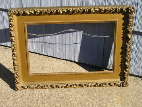 Antique Aesthetic Eastlake Victorian Extreme Curl Wide Edge Aged Picture Frame