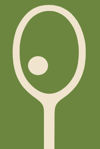 Tennis Racquet Green Sport Vintage Poster Repro FREE S/H in USA