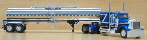 DCP 1/64 SCALE PETERBILT 379 BLUE/BLACK/WHITE TRUCK W BRENNER CHEMICAL TRAILER