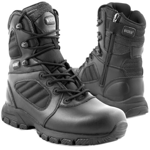 Magnum Lynx 8.0 Side Zip Tactical Police Security Uniform Boots Black ALL SIZES
