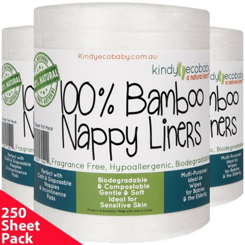 220 Bamboo Nappy/Diaper Liners/Inserts PREMIUM QLTY, cloth/disposable, Natural