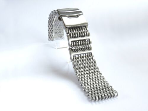 22mm Heavy Shark Mesh Brushed Stainless Steel, Fits Seiko 7002-7000, 6309-7290