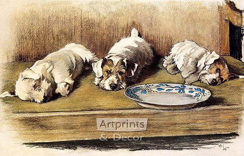 For What We Have Received by Cecil Aldin (Art Print of Vintage Art)