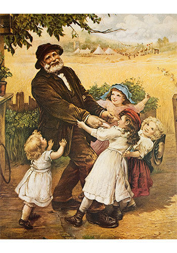 Off to the Fair by Frederick Morgan (Art Print of Vintage Art) (11 x 14)