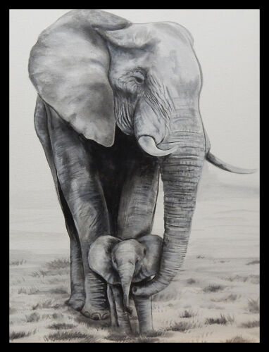 FRAMED Elephant Love by Ed Capeau 36x24 Giclee Edition Print Poster