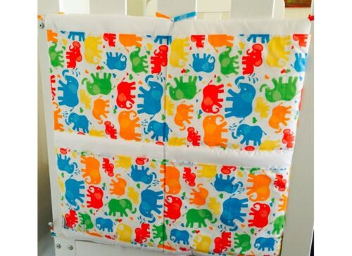 New Gooseberry Collection - Elephants - Nappy Stacker Cot Organizer - 60x60cm