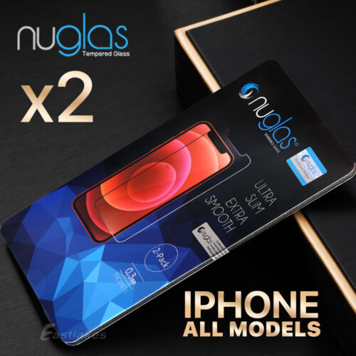 2x NUGLAS Tempered Glass Screen Protector Apple iPhone XS Max XR 8 7 6 6s Plus 5 <br/> ▲9H Hardness ▲Japanese AGC Glass ▲Extra 10% OFF