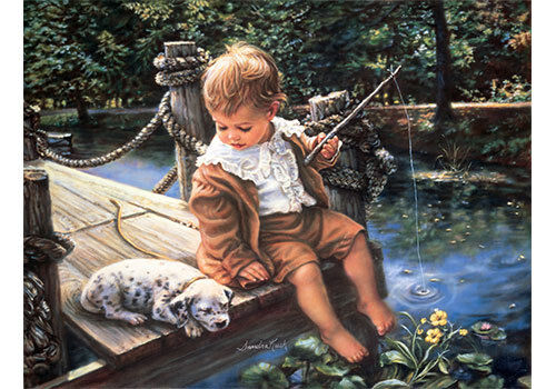 Gone Fishing by Sandra Kuck (Art Print)