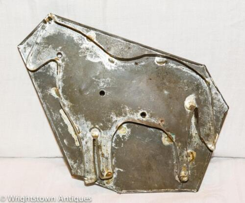 "HUGE 7"" Antique 19th Century Tole Tin HORSE COOKIECUTTER Flatback ESTATE! WOW!"