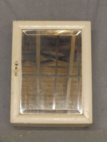 Small Antique Wood Surface Wall Mount Medicine Cabinet Beveled Mirror 5299-15