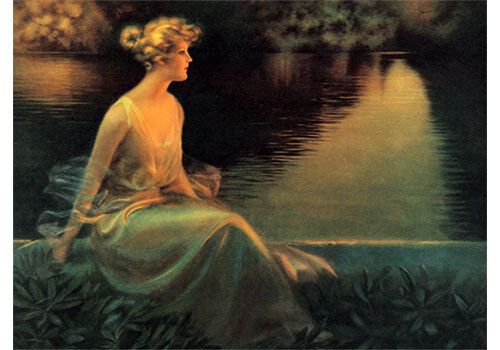 The End Of A Perfect Day by Charles Warde Traver (Art Print of Vintage Art)