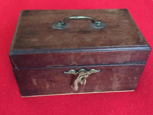 Antique 18th century Wood Mahogany Tea Caddy Georgian George III Box