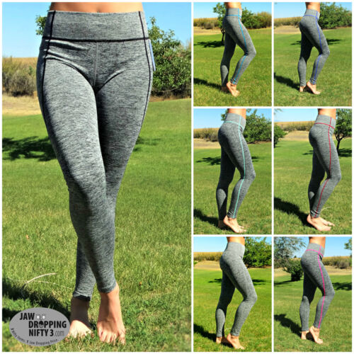 LEGGINGS Running Yoga Workout Exercise Fitness Spandex Activewear