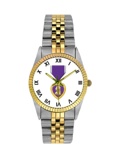 Purple Heart Stainless Steel Mens WatchOther Militaria - 135