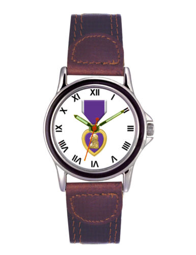 Purple Heart Leather Mens WatchOther Militaria - 135