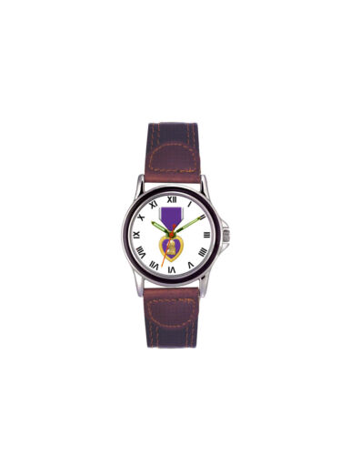 Purple Heart Leather Womens WatchOther Militaria - 135