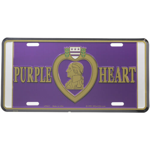 Purple Heart Logo License PlateOther Militaria - 135