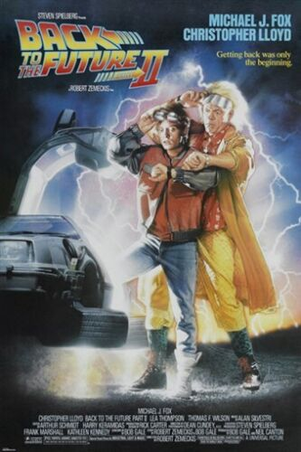 back to the future PART II vintage MOVIE POSTER michael j fox ADVENTURE 24X36