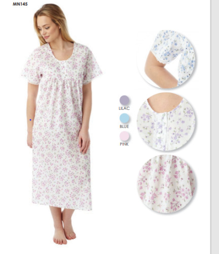 PLUS SIZE LADIES  COTTON MIX  NIGHTIES SHORT SLEEVES UK  SIZES 10 TO 34