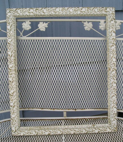 Age Worn Aesthetic Eastlake Victorian Cottage White Picture Frame 18 3/4~22 3/4