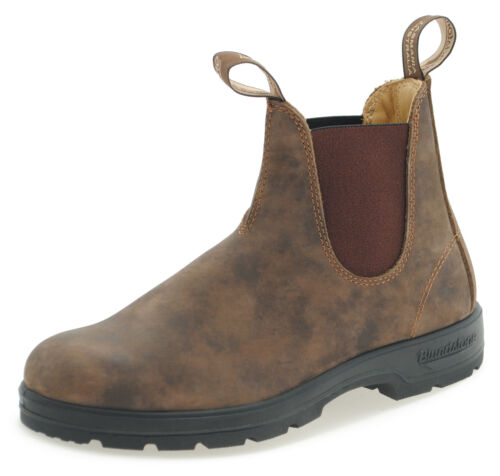 Blundstone Style 585  RB Rustic Brown Nubuck Leather Australian Chelsea Boots