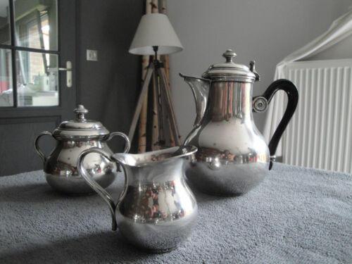 Christofle Gallia silver plated coffee set (3 pces) albi pattern