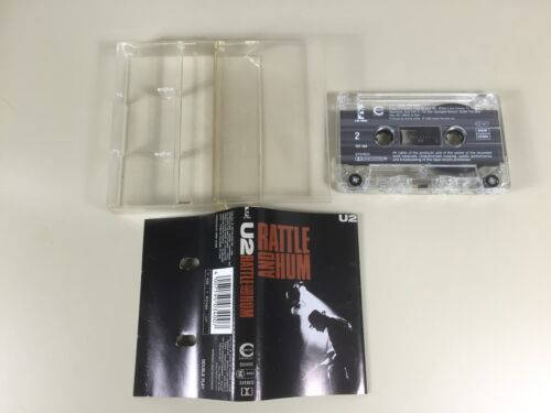 K7 AUDIO CASSETTE TAPE VINTAGE U2 RATTLE AND HUM