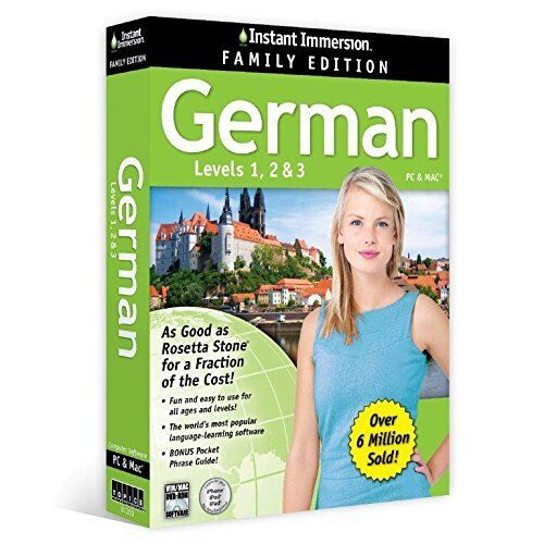 Instant Immersion learn German Family Edition Levels 1,2,3