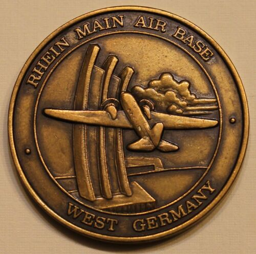 435th Fuels Management MAC Rhein Main AB West Germany Air Force Challenge CoinOriginal Period Items - 13983