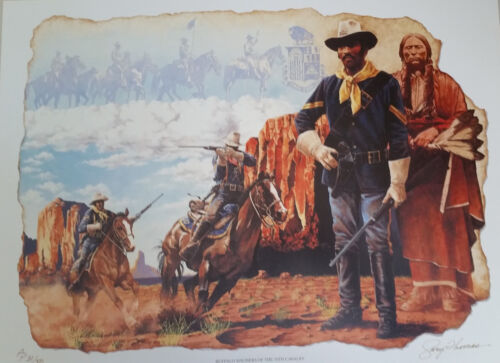 "Buffalo Soldier Art Print ""Buffalo Soldier, 10th Calvary"" (S/N LImited Edition)"