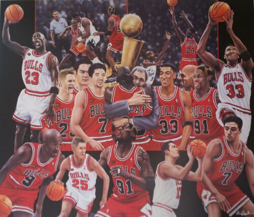 Chicago Bulls - VI Time Champs (S/N LImited Edition)