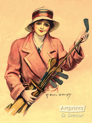 The Golfer Wore Pink by F Earl Christy (Art Print of Vintage Art)