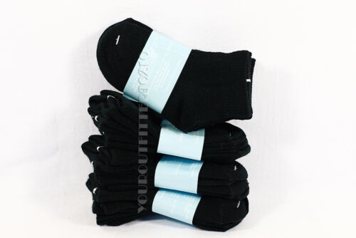 2-4 Kid's Toddler Ankle Cut Solid Black Socks Spandex Cotton New Boy's Girls New
