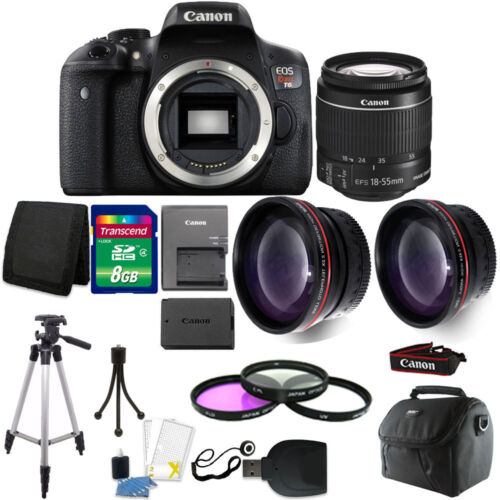 Canon EOS Rebel T6 DSLR Camera + EF-S 18-55mm IS II Lens Kit + Top Accessory Kit