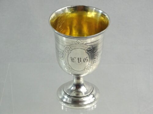 ANTIQUE COIN SILVER Judaica Kiddush Cup AMERICAN NEW YORK 19TH CENTURY