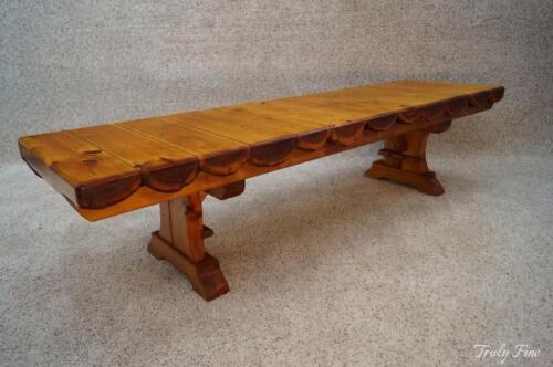 Adirondack Lodge Cabin House Log Bench Coffee Table Rustic 6 Foot Seating