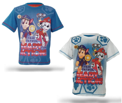 PAW PATROL T SHIRT COTTON CHASE MARSHALL RUBBLE