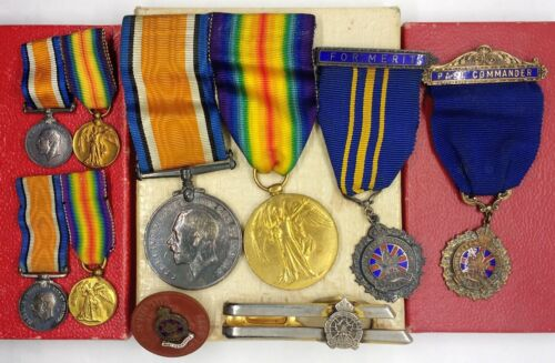 Amazing WW1 British Canadian Military Commander Officer service Medal lot !!Medals, Pins & Ribbons - 156404