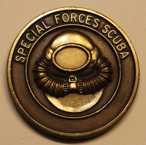 Special Forces Scuba Combat Diver Green Berets Early Version Army Challenge CoinOriginal Period Items - 13983
